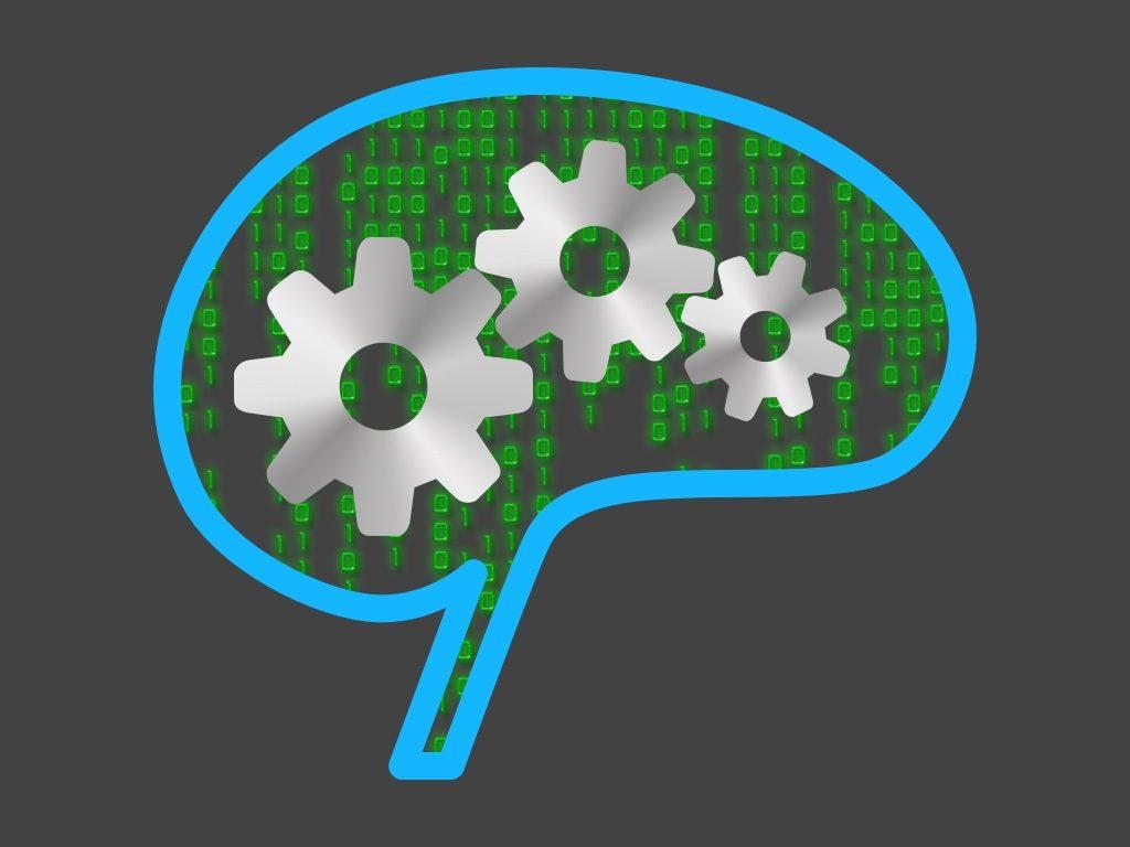 Brain with binary numbers.