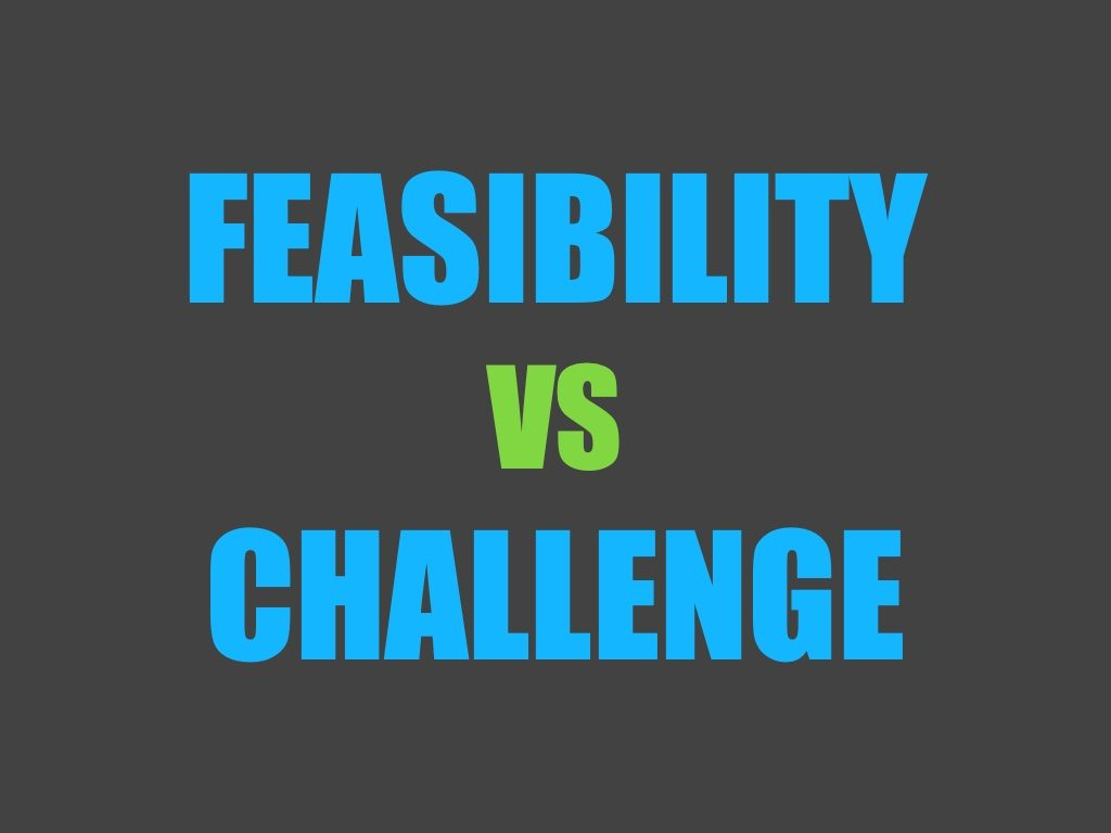 Feasible projects versus challenge projects