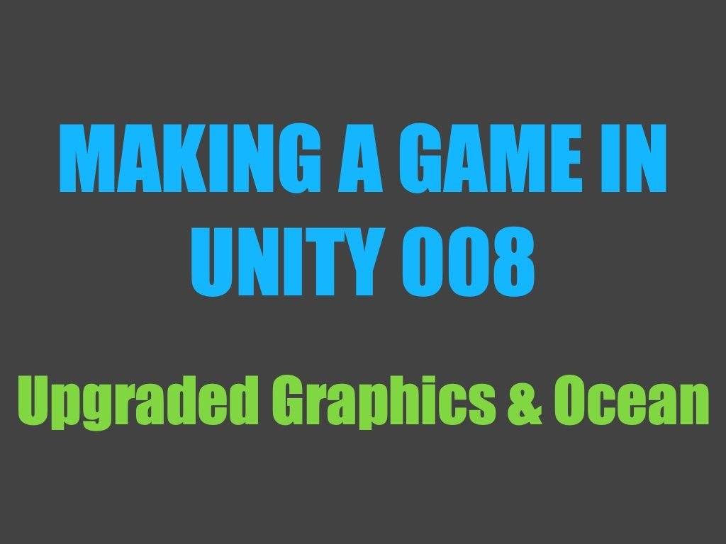 Making a game in Unity 008