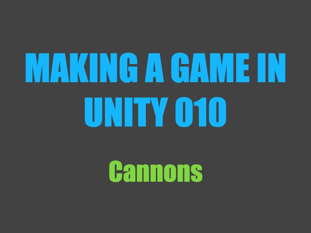 Making a game in Unity 010