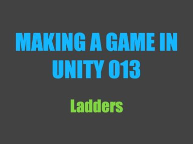 Making a game in Unity 013