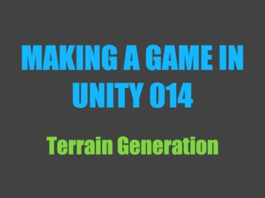 Making a game in Unity 014