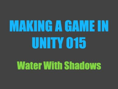 Making a game in Unity 015