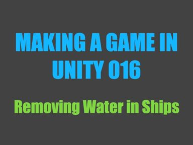 Making a game in Unity 016