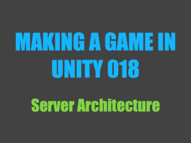 Making a game in Unity 018