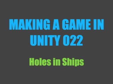 making a game in Unity 022