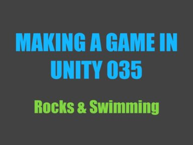 Making a game in Unity 035