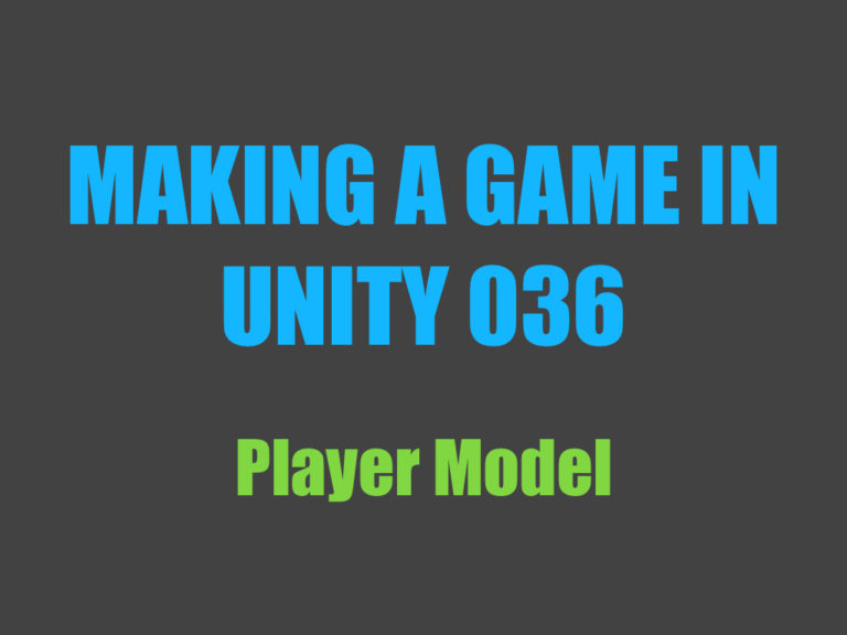 Making a game in Unity 036